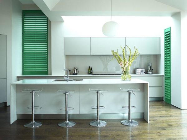 Green Kitchen Shutters