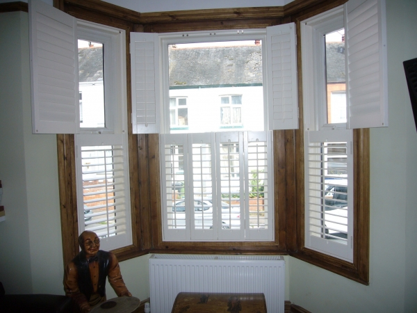 Edwardian Bay Window Shutters In Hove