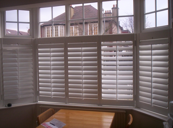 Cafe Style Wood Shutters In Richmond Surrey From Shutterly