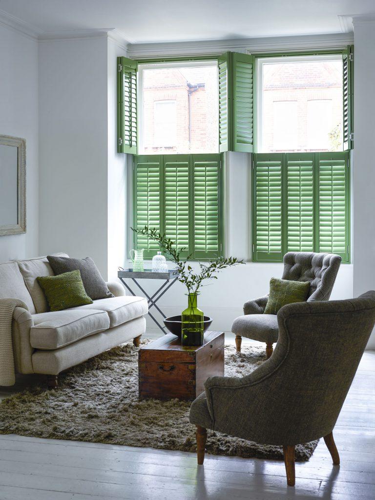 Pea green shutters