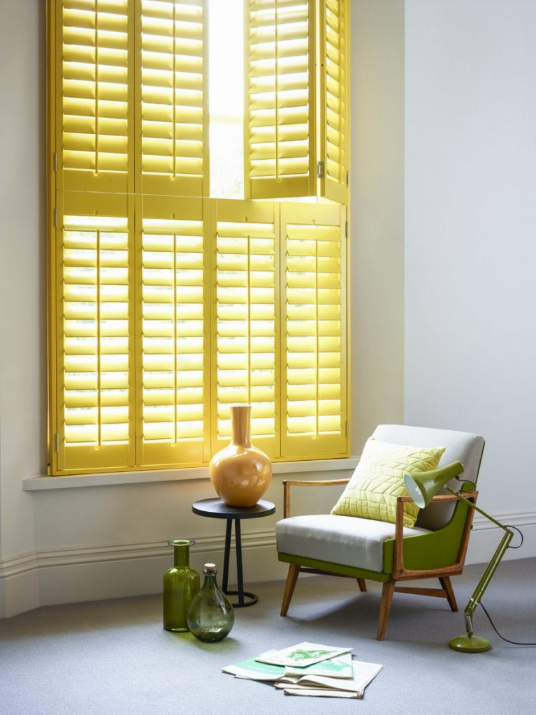 yellow tier on tier shutters