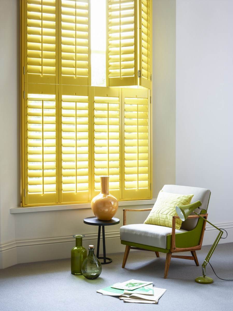 Yellow Tier on Tier Shutters by Shutterly Fabulous