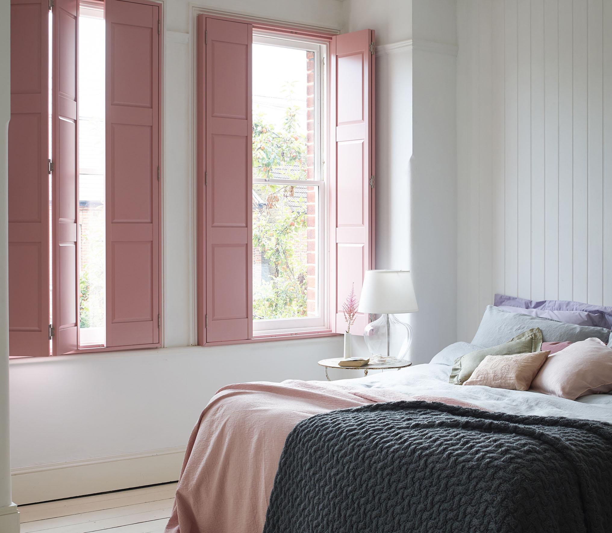 Boudoir pink shutters