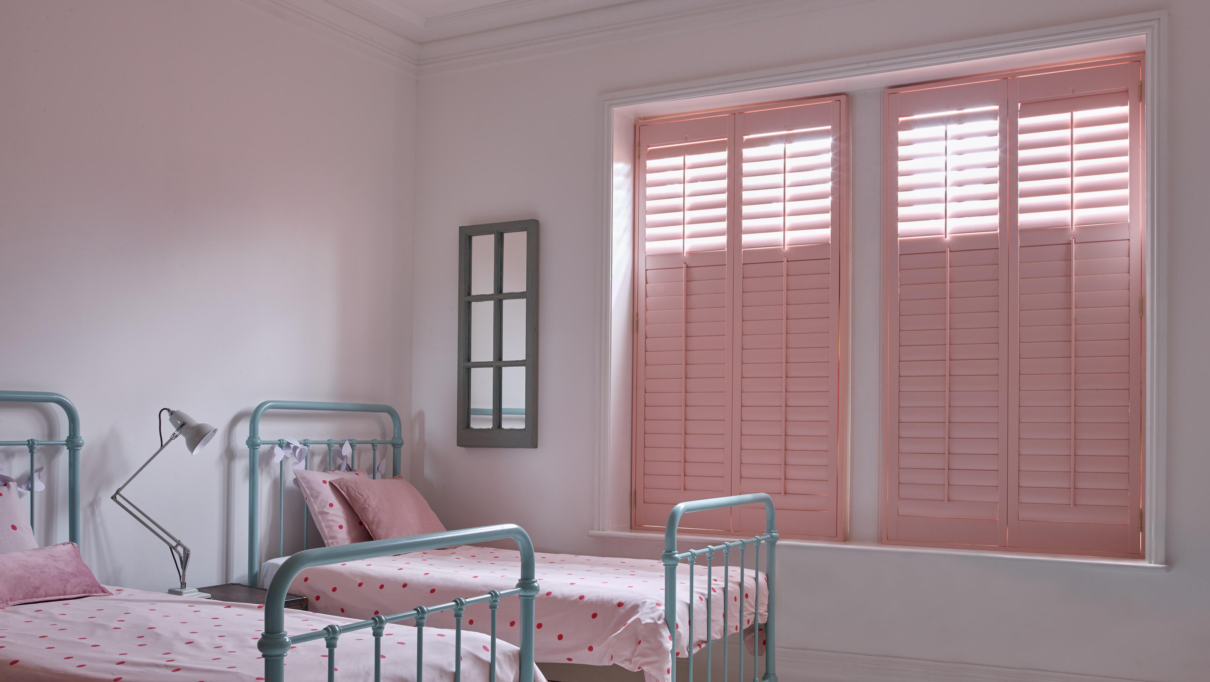 Pink Plantation Shutters by Shutterly Fabulous