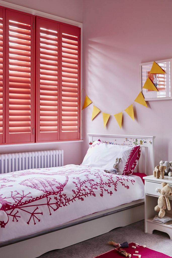 custom colur coral plantation shutters by Shutterly Fabulous