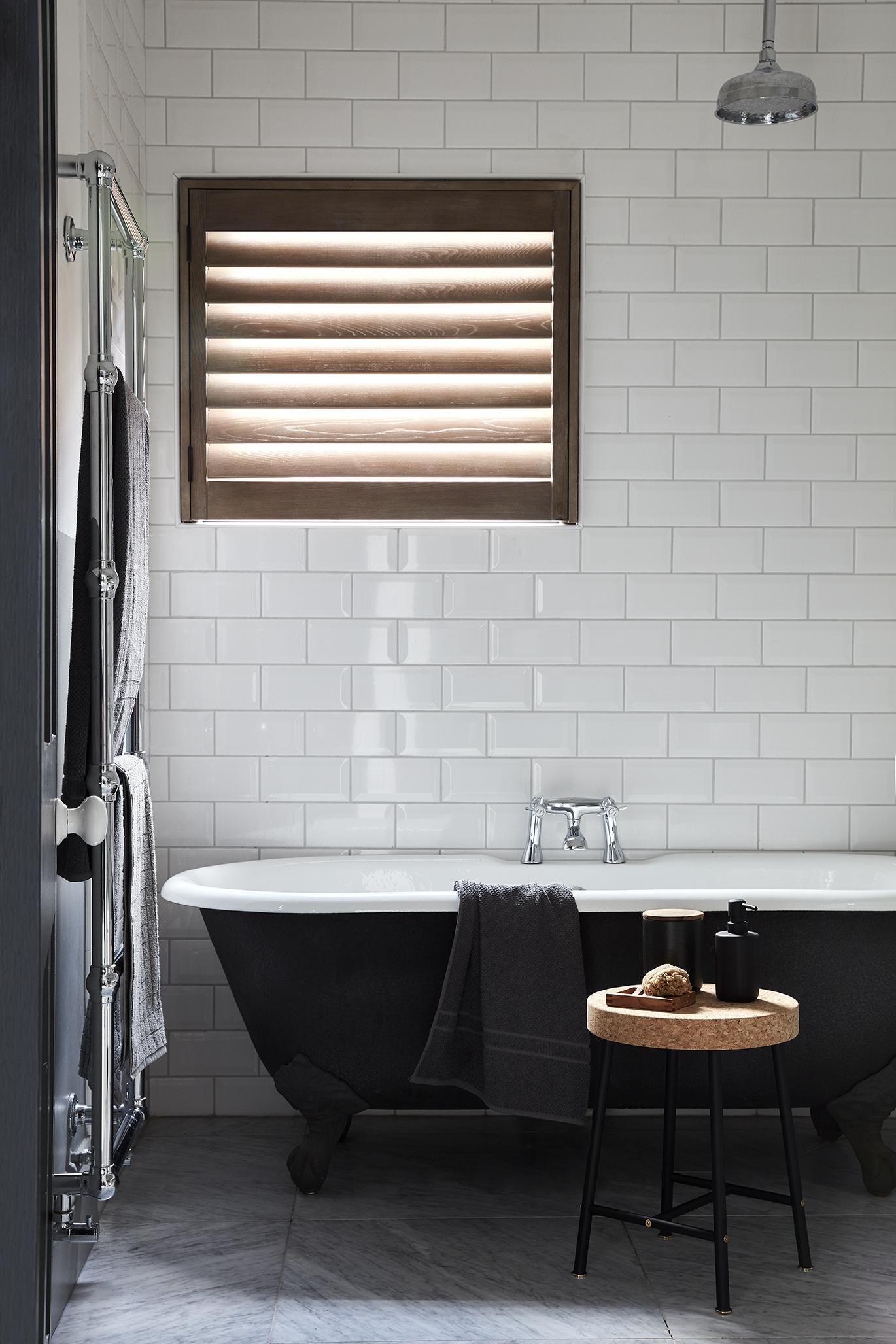 cork bathroom shutters by Shutterly Fabulous