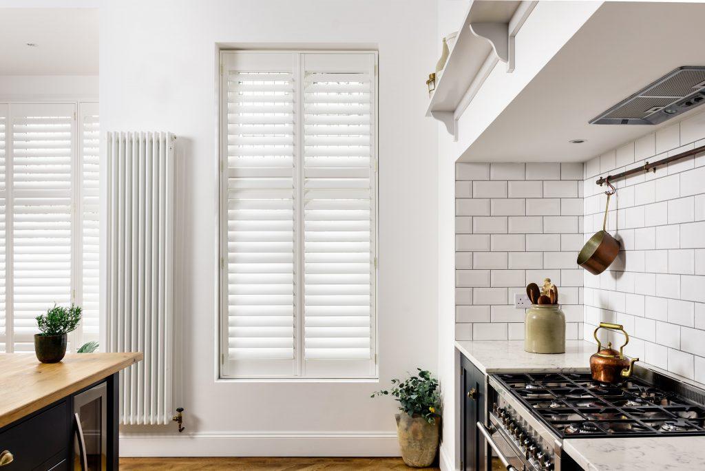 Off-white kitchen shutters