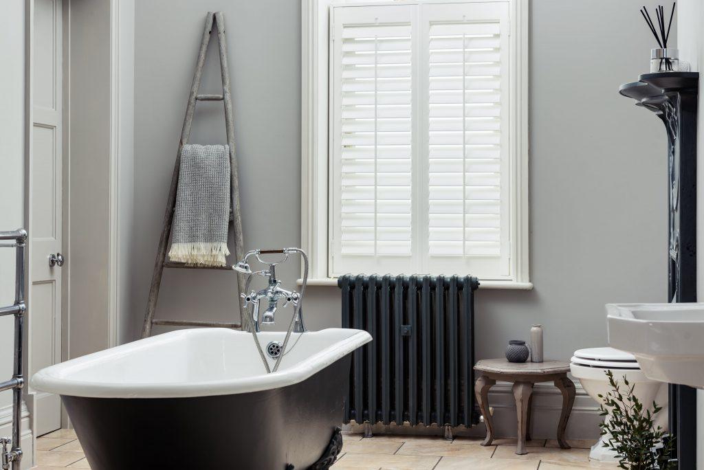 Bathroom shutters vinyl waterproof by Shutterly Fabulous