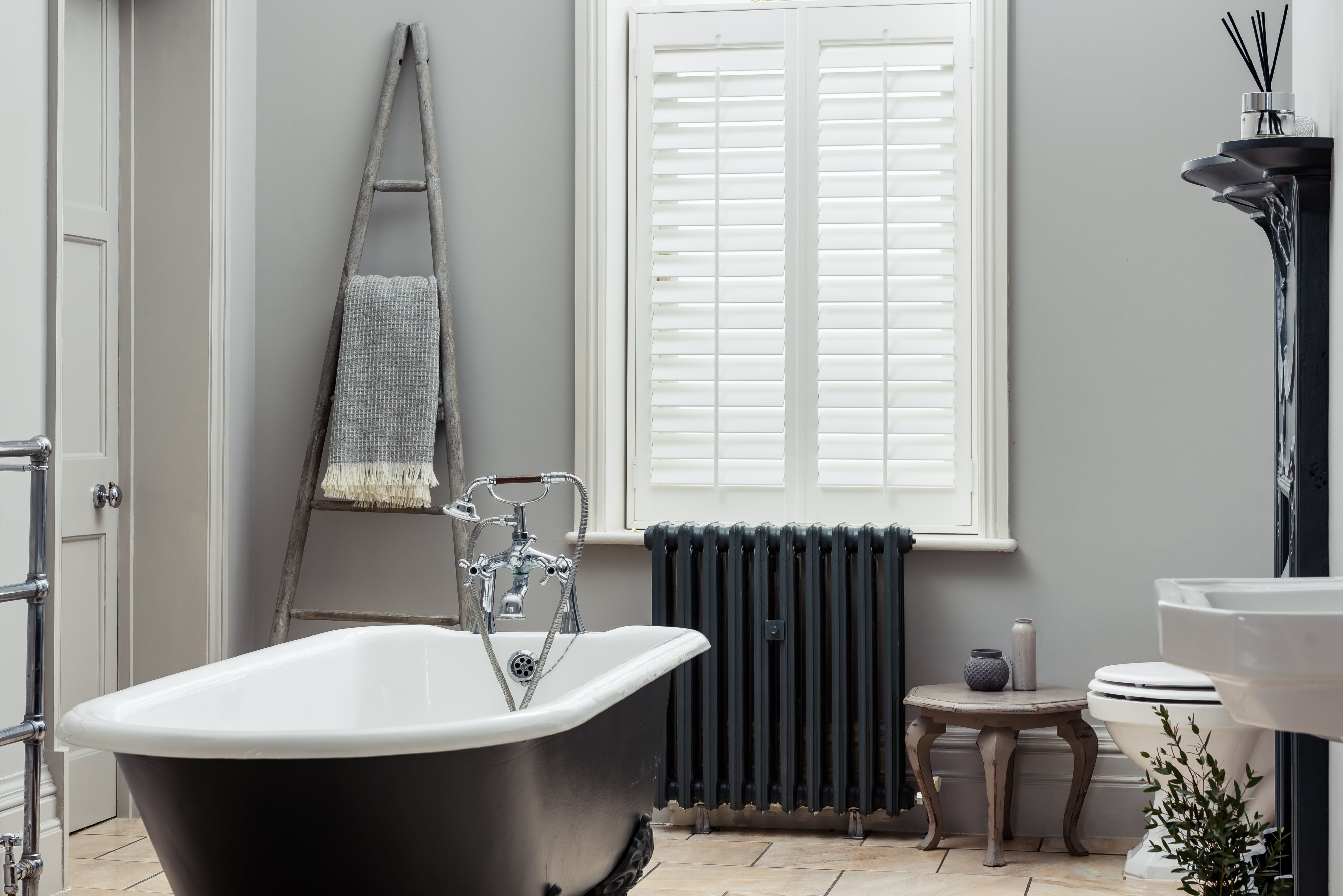 Bathroom shutters vinyl waterproof by Shutterly Fabulous