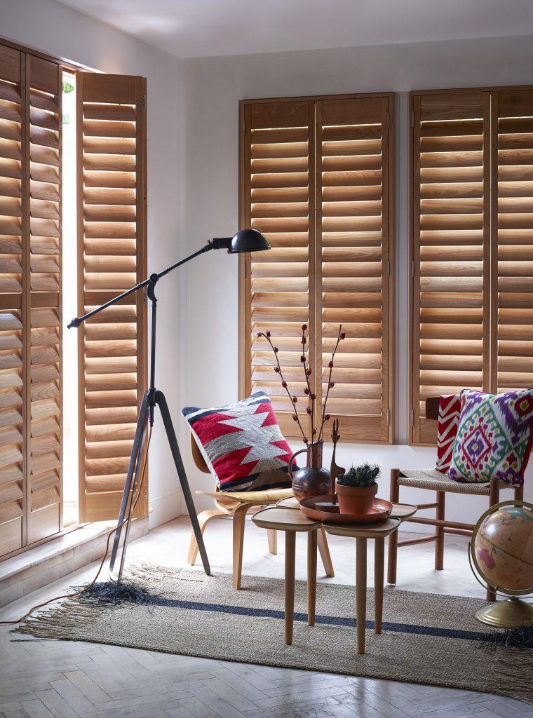 Natural wood bay windows shutterly fabulous