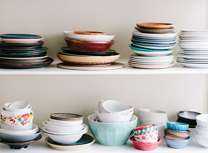 Mix and match crockery
