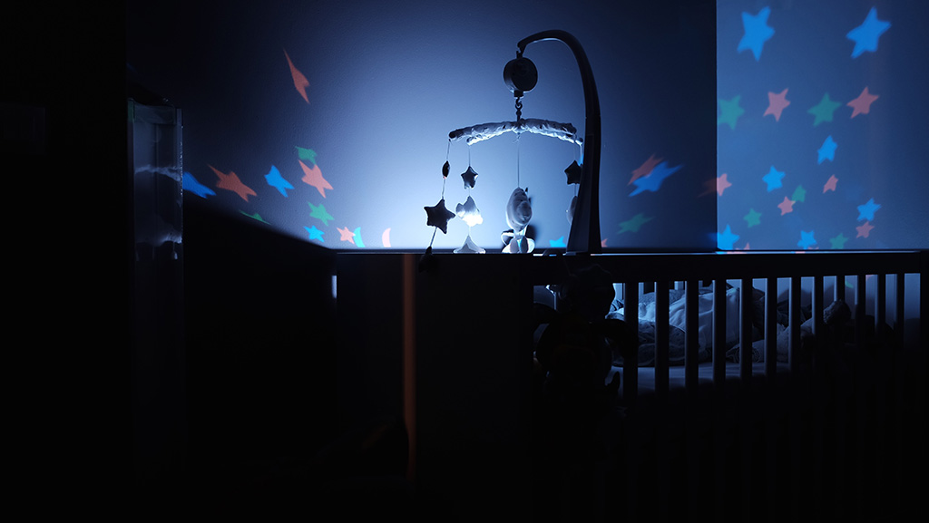 Cot with night light