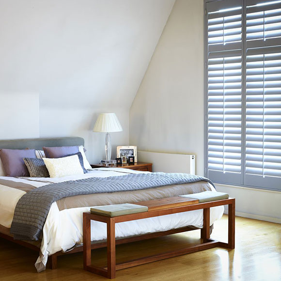 full height shutters in grey by Shutterly Fabulous
