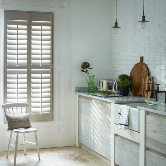 Full height shutters in neutral by Shutterly Fabulous