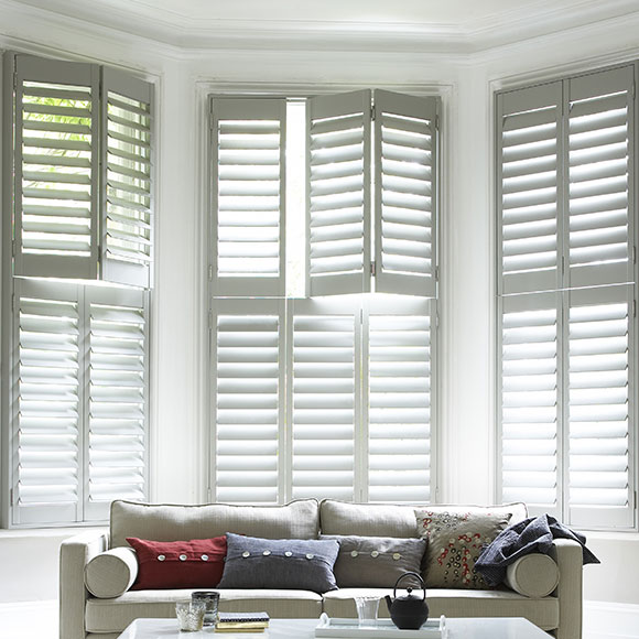White Open Plantation Shutters by Shutterly Fabulous