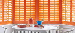 Custom colour bay window shutters Shutterly Fabulous