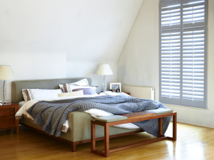 Bedroom shutters by Shutterly Fabulous