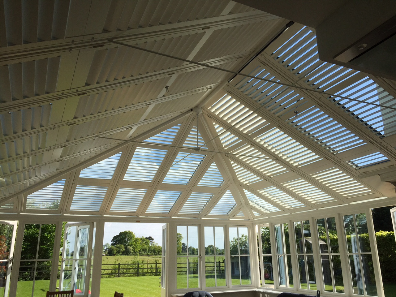 How shutters can stop your conservatory overheating