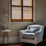 natural wood lounge windows shutters by Shutterly Fabulous