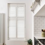 White kitchen window shutters by Shutterly Fabulous