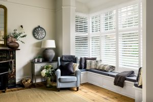 White plantation shutters by Shutterly Fabulous